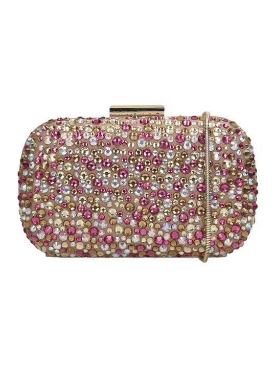 Lola Cruz Clutch Bag In Taupe Leather