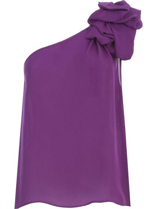 Emporio Armani Top W/s Georgette W/knot