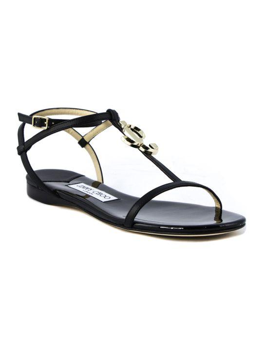 Jimmy Choo Black Alodie Flat Sandal