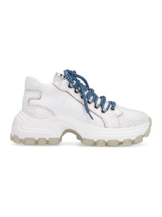 Miu Miu Maxi Sole Leather Sneakers
