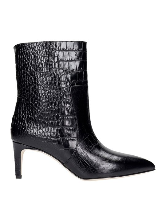 Paris Texas Low Heels Ankle Boots In Black Leather