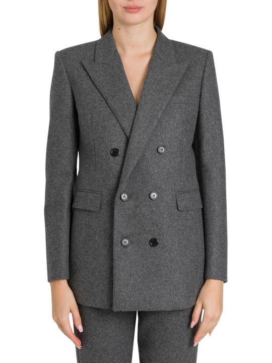 Saint Laurent Double-breasted Blazer In Wool Flannel