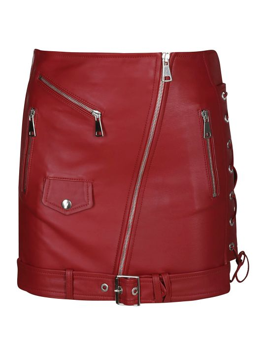 Manokhi Biker Style Mini Skirt