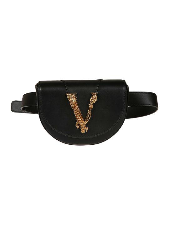 Versace Logo Plaque Belt Bag