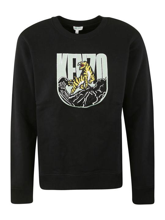 Kenzo Logo Patched Sweatshirt