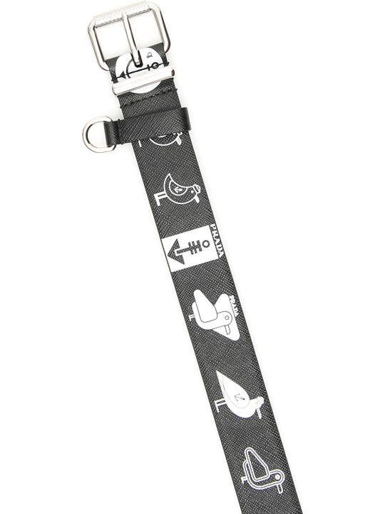 Prada Prada Seagull Print Belt