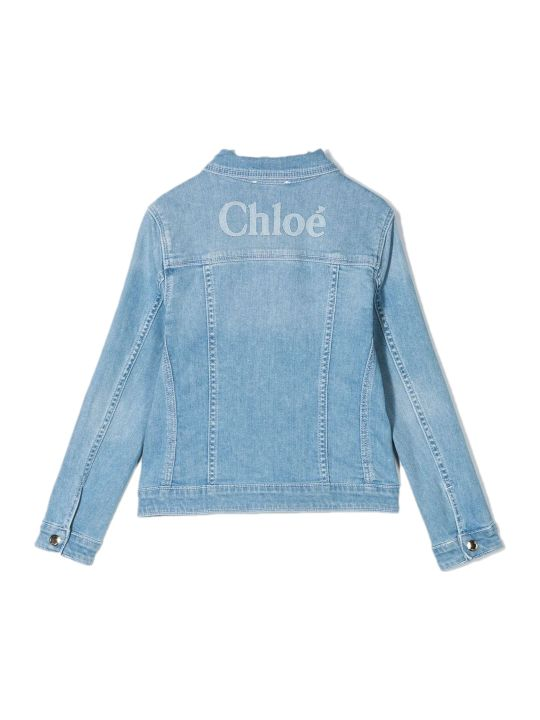 Chloé Blue Stretch Cotton Denim Jacket