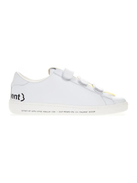 Moncler Genius Hiroshi Fujiwara X Moncler White Leather Sneakers
