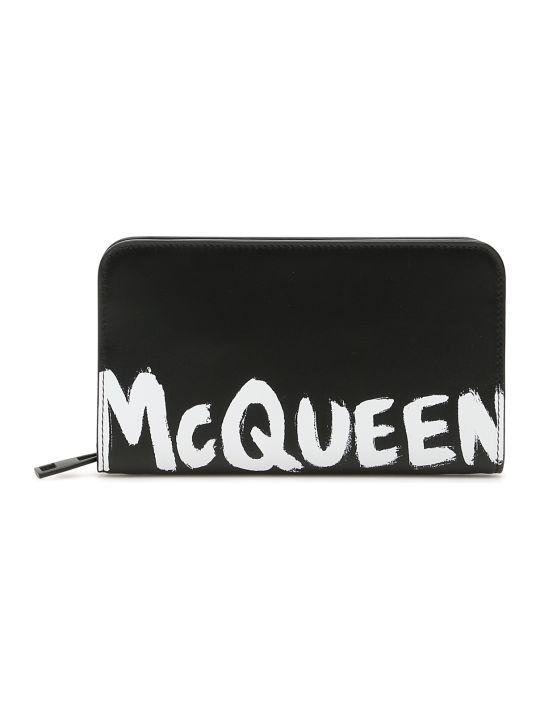 Alexander McQueen Logo Zip-around Wallet