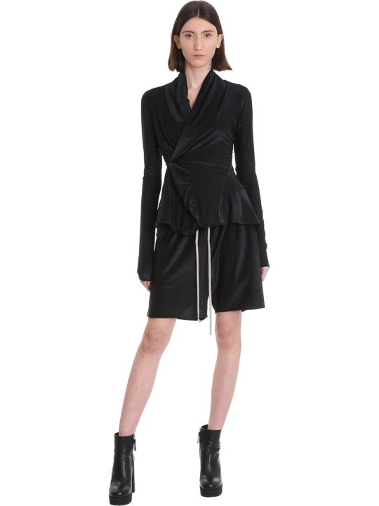 Rick Owens Lilies Shorts In Black Viscose