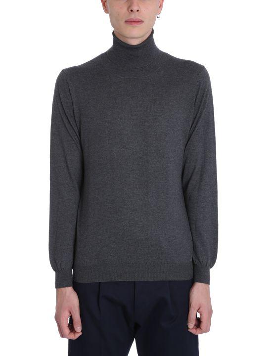 Laneus Grey Wool Turtleneck