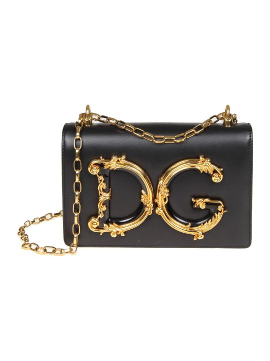 Dolce & Gabbana Shoulder Bag Dg Girls In Nappa Color Black
