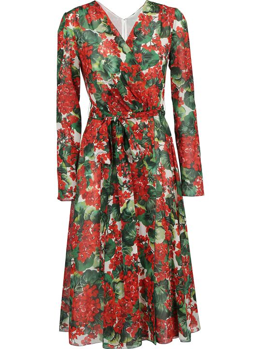 Dolce & Gabbana Georgette Midi Dress