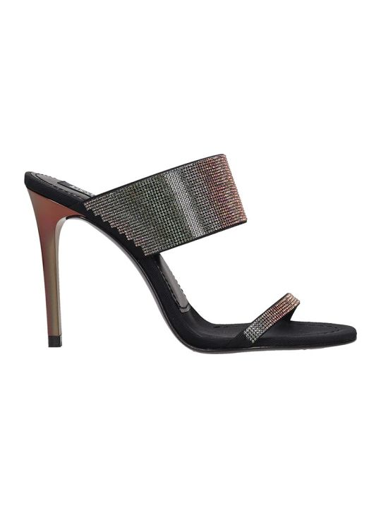 Pedro Garcia Camelia Sandals In Black Leather