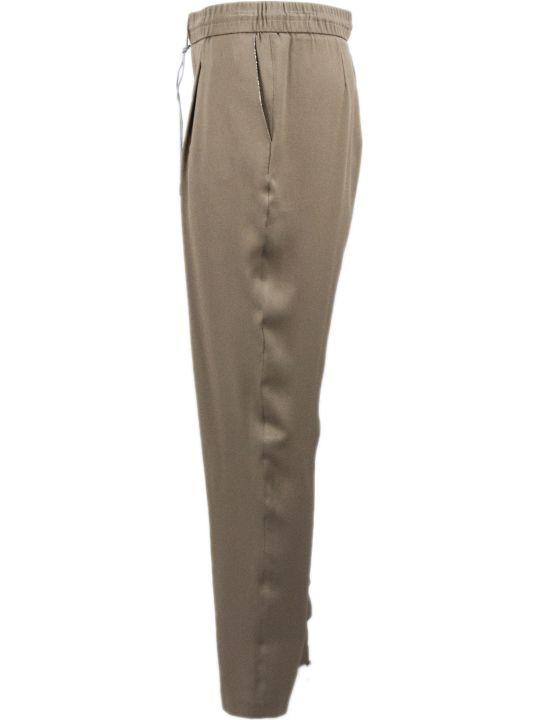 Fabiana Filippi Brown Silk Trousers