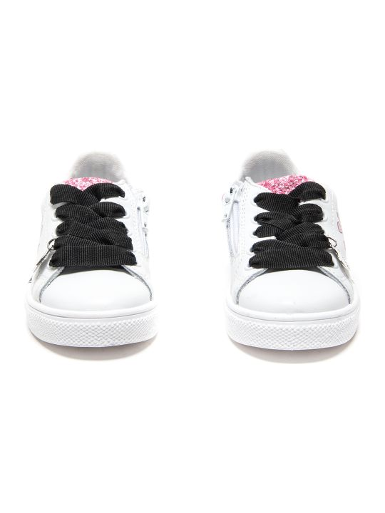 Monnalisa Pink Rock Eco-leather+glitter Sneakers