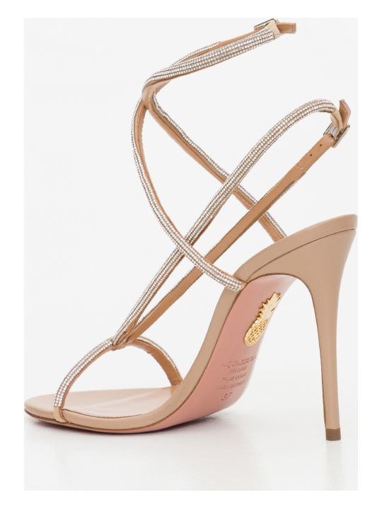 Aquazzura Moondust Sandals With Stiletto Heels
