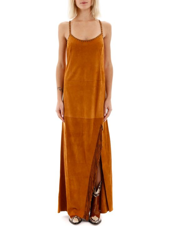 Jessie Western Suede Dress With Fringes