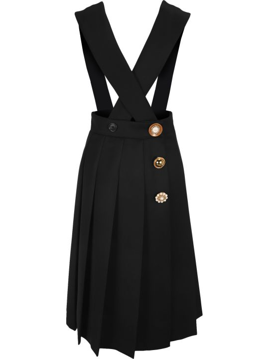 Miu Miu Embellished Pleated Dress
