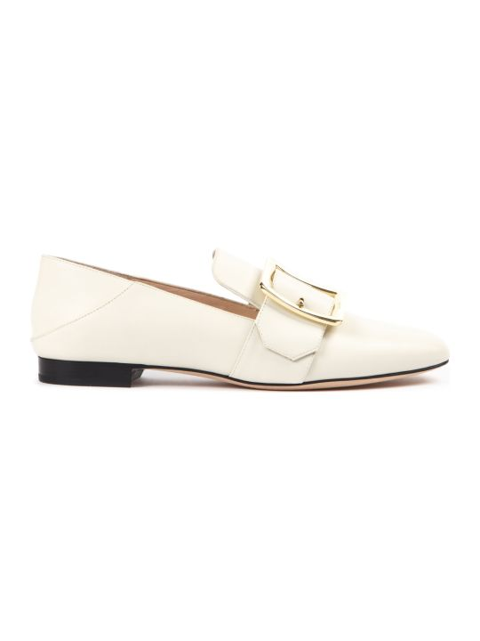 Bally Janelle Bone Color Loafers In Leather