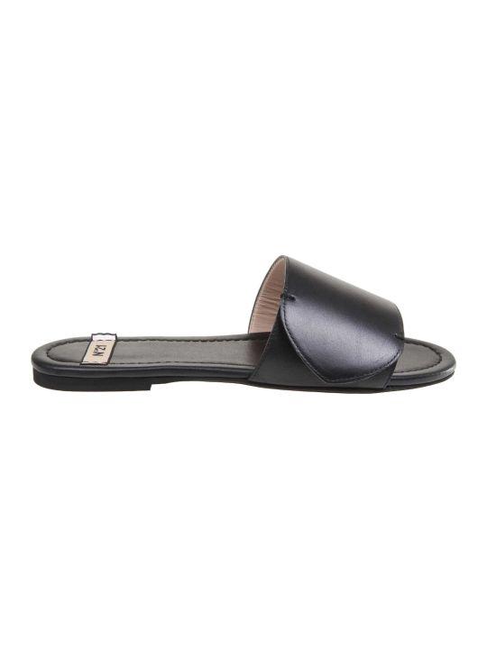 N.21 N ° 21 Black Leather Sandal