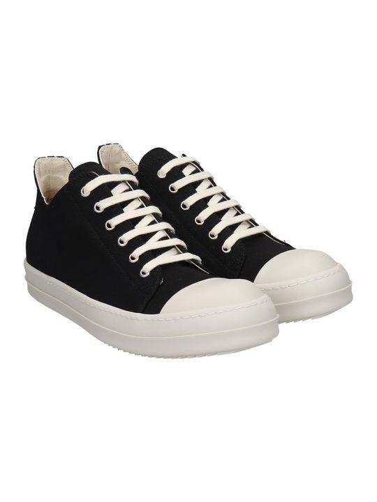 DRKSHDW Low Sneaks Sneakers In Black Canvas