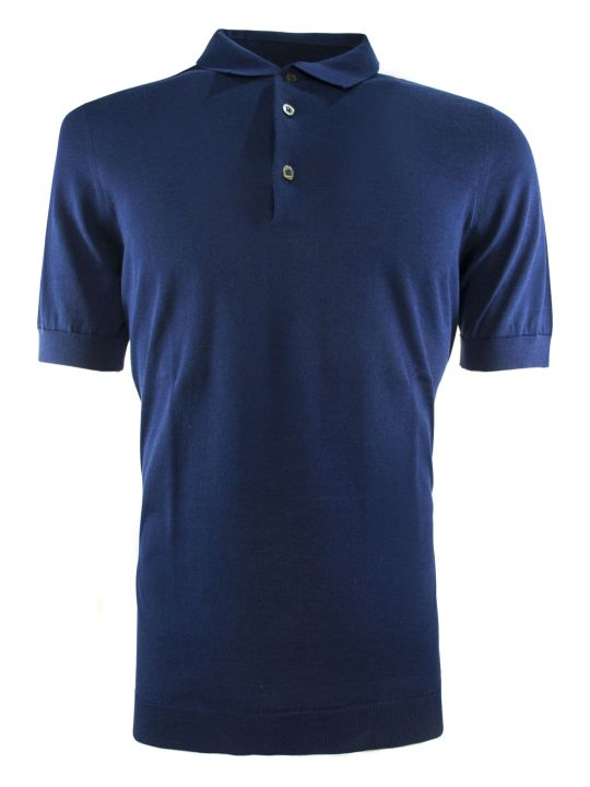 Drumohr Bluette Cotton Polo Shirt