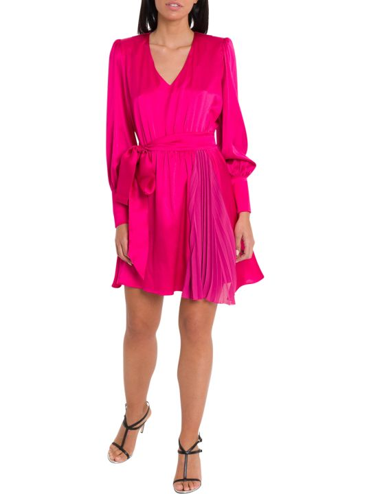 Federica Tosi Satin Dress Wirth Ribbon On Waist