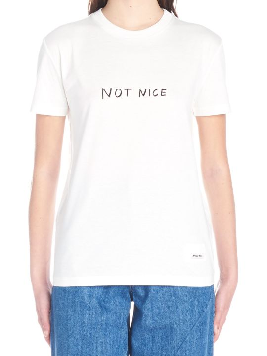 Miu Miu 'not Nice' T-shirt
