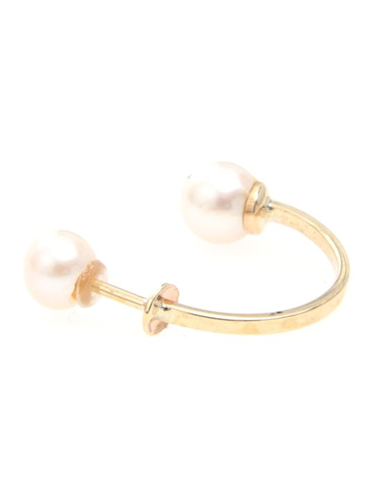 Delfina Delettrez Double Pearls Earring 9kt Gold