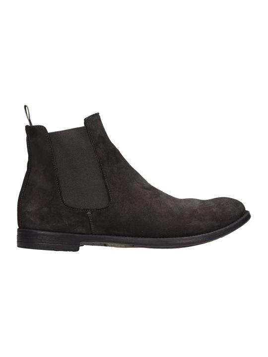 Officine Creative Grey Nabuk Ankle Boots