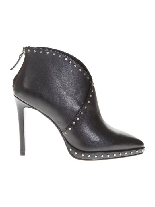 Lola Cruz Black Leather Booties