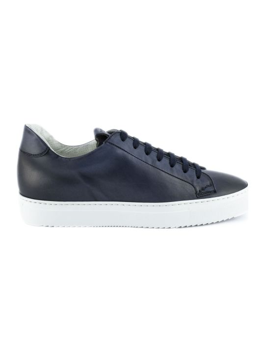 Doucal's Sneakers In Blue Leather