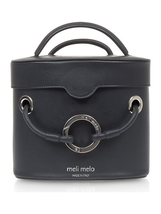 Meli Melo Nancy Black Leather Cylindrical Bag