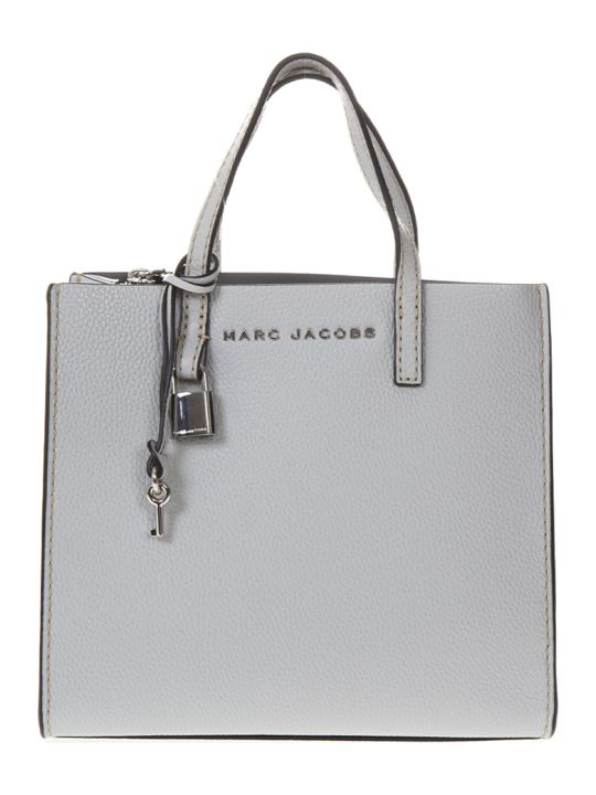Marc Jacobs Mini Grind Gray Leather Tote Bag