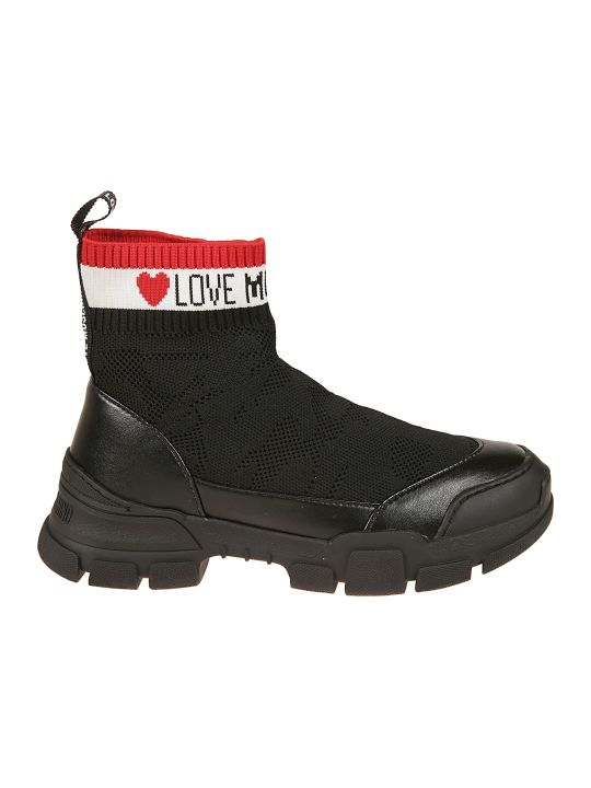 Love Moschino Sock Style Hi-top Sneakers