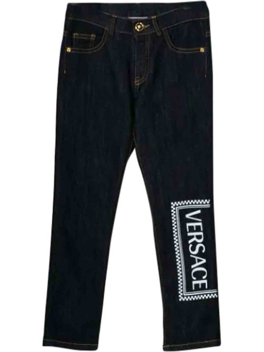 Young Versace Printed Jeans