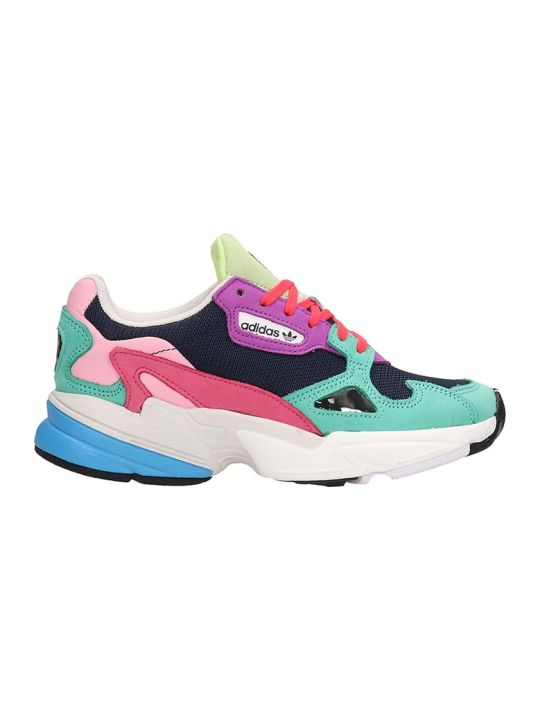 Adidas Falcon W Pink And Blue Fabric Sneakers