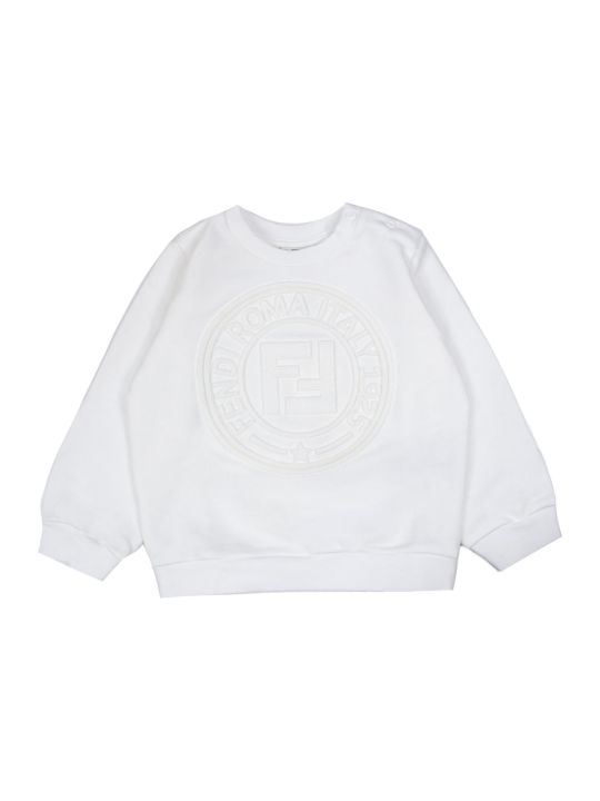 Fendi White Cotton Sweatshirt