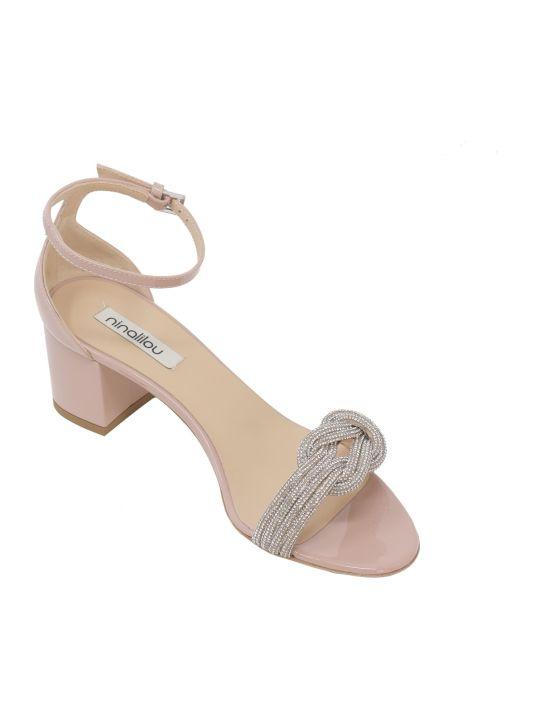 Ninalilou Wendy Nude Patent Sandals