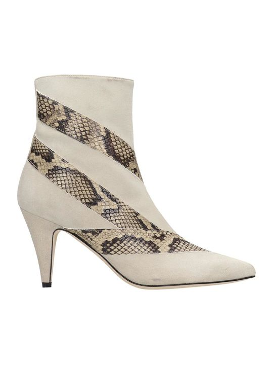 GIA COUTURE Ankle Boots In Beige Suede