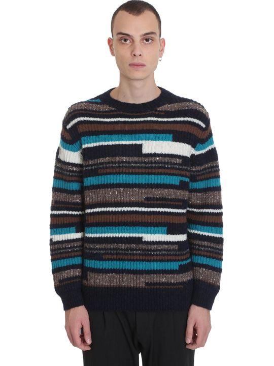 Maison Flaneur Knitwear In Blue Wool
