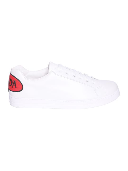 Prada Linea Rossa Back Logo Low-top Sneakers