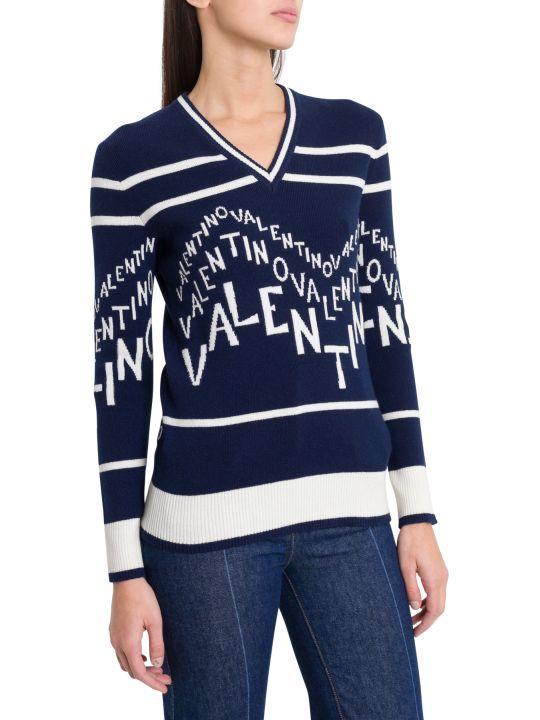 Valentino Logo Intarsia Sweater