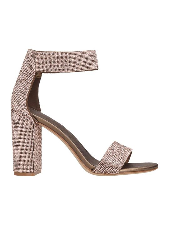 Jeffrey Campbell Lindsay Sandals In Bronze Leather