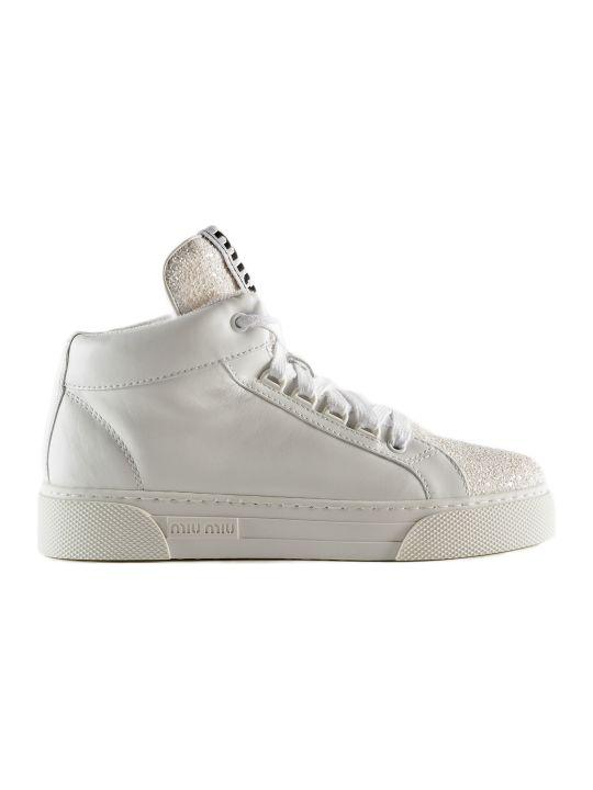 Miu Miu Vit.soft+glitter Ankle Boots