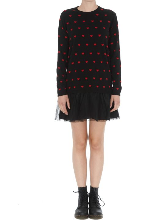 RED Valentino Hearts Detail Dress