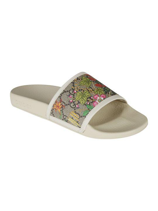 Gucci Supreme Floral Sliders