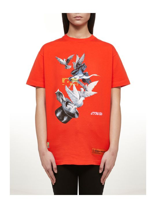 HERON PRESTON Birds Print T-shirt
