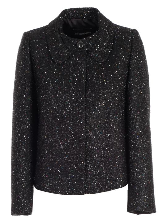 Emporio Armani Jacket Glitter Round Neck